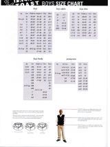 French Toast Shoe Size Chart